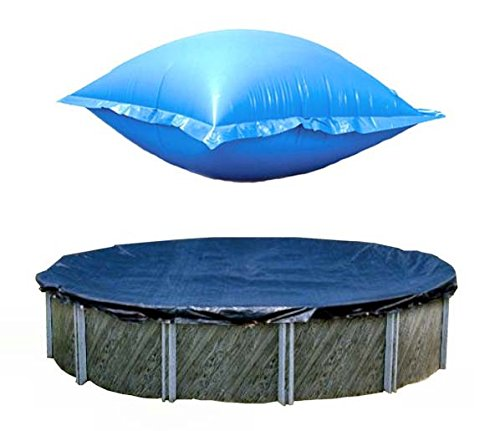 Swimline 24 Ft Round Above Ground Winter Pool Cover w/ 4'x8' Closing Air Pillow by Swimline