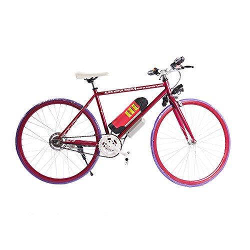 ELECTRIC Fixie Bike 350W 33MPH Alien Motor Wheels TM (CHERRY/PURPLE/CHERRY/HOT PINK)