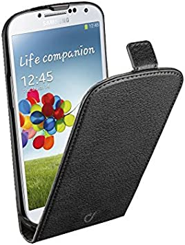 Cellular Line Flap - Funda para móvil Samsung Galaxy S4, negro: Amazon.es: Electrónica
