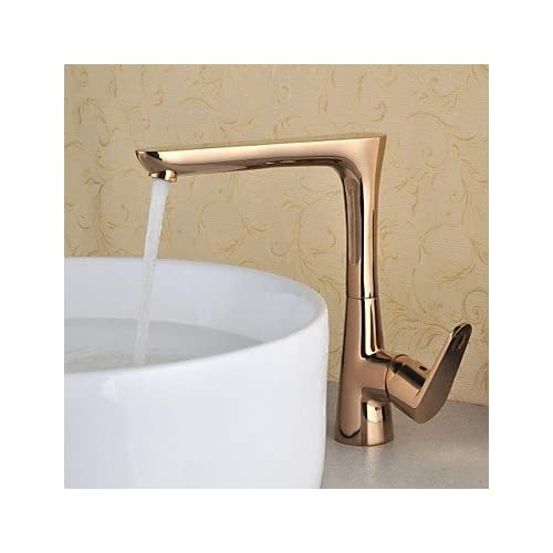 W&P Antique Centerset ceramic valve single lever single hole as rose gold, bathroom sink faucets 80%OFF