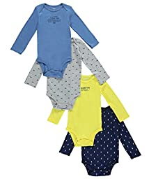 Carter\'s Baby Boys Multi-Pack Bodysuits 126g338, Assorted, 12 Months
