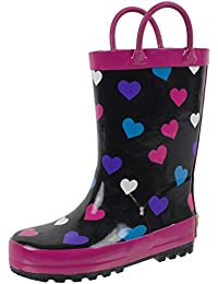 Rain Boots for Kids with Easy-on Handles, Waterproof, for...