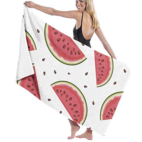 スキーム製造業ツインビーチバスタオル バスタオル スイカ Watermelon バスタオル 海水浴 旅行用タオル 多用途 おしゃれ White
