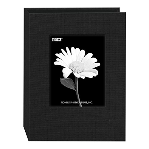 - Pioneer Photo DA-57CBF/BK 24-Pocket Frame Cover Album for 5 by 7-Inch Prints, Deep Black Fabric