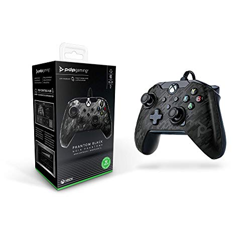 PDP GAMING WIRED CONTROLLER: PHANTOM BLACK - XBOX ONE