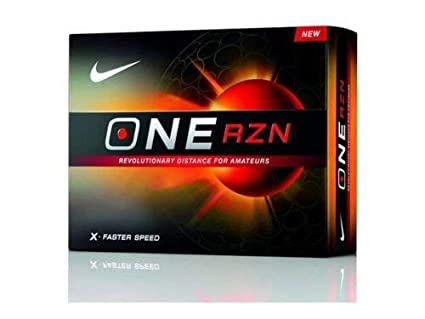 738798c09f3a9 Amazon.com : Nike One RZN X Faster Speed Golf Balls 2 Dozen : Sports ...