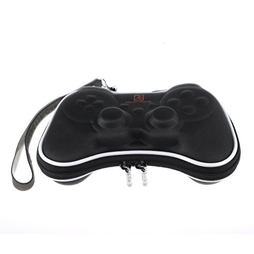 YUYIKES Black Airform Game Carry Pouch Case Bag for Sony Playstation 3 Ps3 Game Controller]()