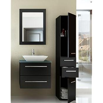 24 inch Carina Single Vessel Sink Wall Mounted Modern Bathroom ...