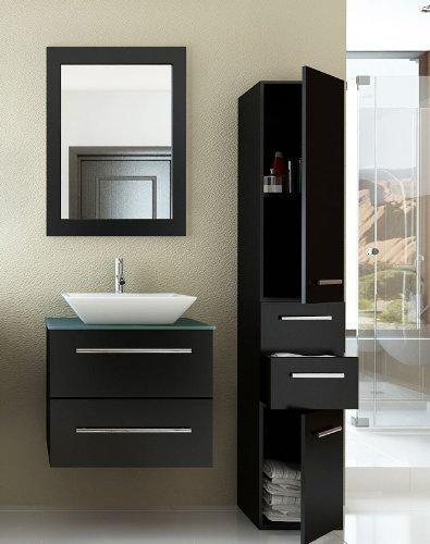 24 Inch Carina Single Vessel Sink Wall Mounted Modern Bathroom