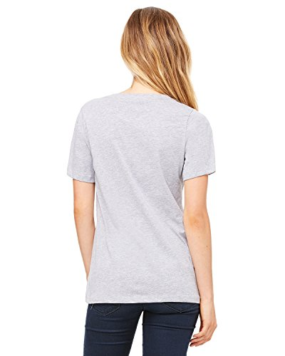 Bella Wholesale (Bella + Canvas Ladies' Relaxed Jersey V-Neck T-Shirt, Athletic Hthr, XX-Large)