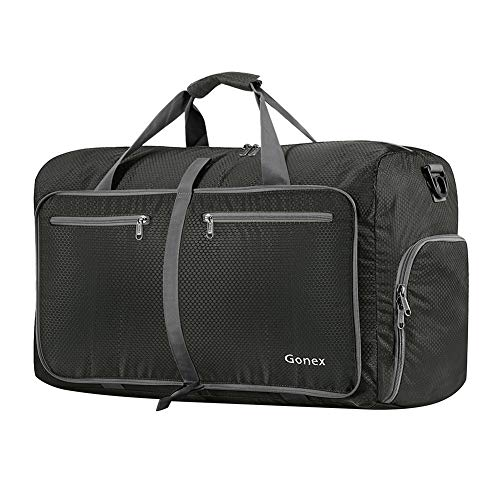 Gonex 60L Foldable Travel Duffel Bag Water & Tear Resistant, Gray (22 X 14 X 9 Duffle Bag)