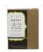 Darice Smooth A2 Envelopes, 4.375 x 5.75-Inch, Kraft, 50-Pack
