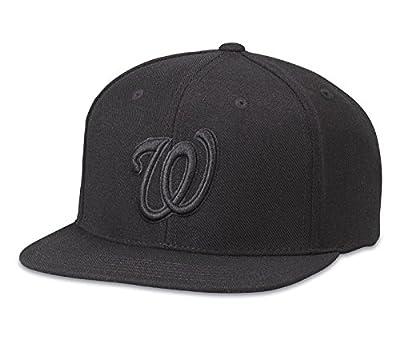 Washington Nationals American Needle 400 Series Black Adjustable Snapback Hat