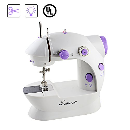 HAITRAL Portable Sewing Machine Adjustable 2-Speed Double Thread Electric Crafting