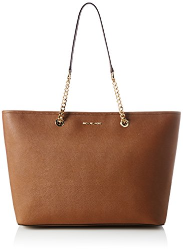 Michael Kors Women's Jet Set Travel Medium Saffiano Leather Tote Bag, Luggage, OS