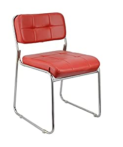 Da URBAN Office Fixed Visitor Chair arm Less (Red) ISO & BIFMA Certified