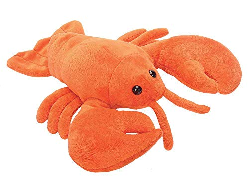(Wild Republic Lobster Plush, Stuffed Animal, Plush Toy, Gifts for Kids, Hug'Ems 7 inches)