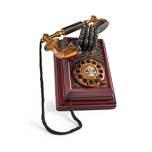 Animated Spooky Telephone (Colors Vary, 4.5 in x 7.75 in x 8 in H) Halloween Haunted Phone by Treasure Co Trio