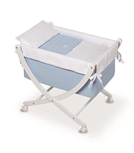 Bimbi Elite–Baby, 68x 83x 76cm, weiß und blau
