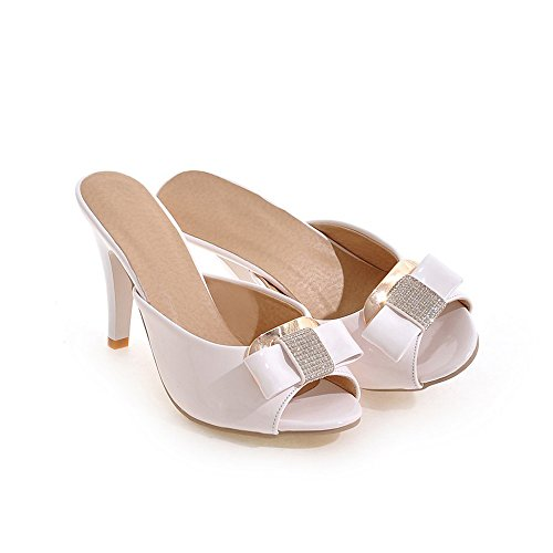 Melady Women Fashion Mules Heels Slip On Sandals 3-white iKdDe