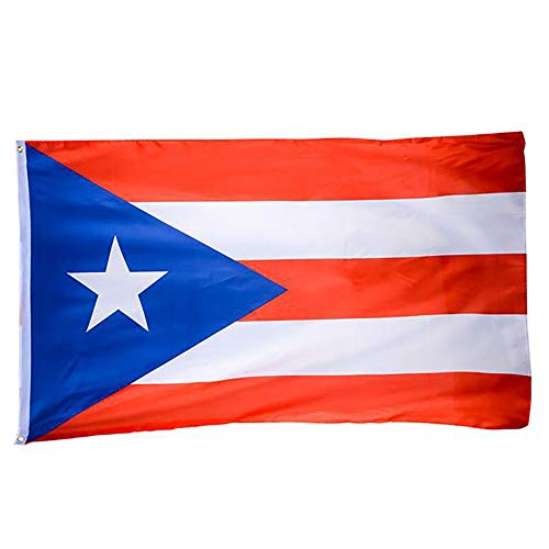 Kicko 3 x 5 Foot Puerto Rican Flag - Double Stitched Puerto Rico Flaglets - for Front Porch, Lawn Pole, Aisle Decoration - Perfect for Olympics, National Holidays, Patriotic Banner (Puerto Rico Party Decorations)