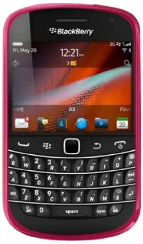 DECORO CSBB9900HPCK Premium Crystal Skin Case with Checker Texture for Blackberry 9900/9930/Bold Touch - 1 Pack - Retail Packaging - Hot Pink/Checker