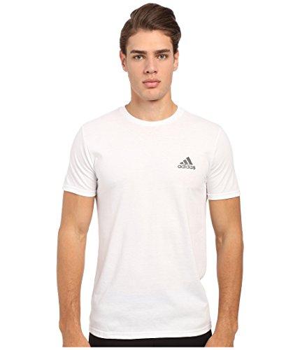 adidas Performance Men's Go-To Performance Short-Sleeve Crew Tee, Large, White