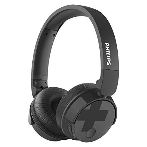 chollos oferta descuentos barato Philips BH305BK 00 Auriculares supraaurales on Ear Bluetooth Bajos voluminosos cancelación de Ruido Plegables Color Negro