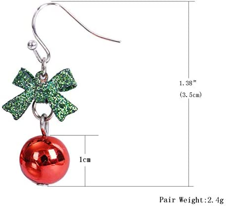 Polymer clay Christmas baubles Christmas Light Earrings -Glitter Bulbs jewelry Ornaments