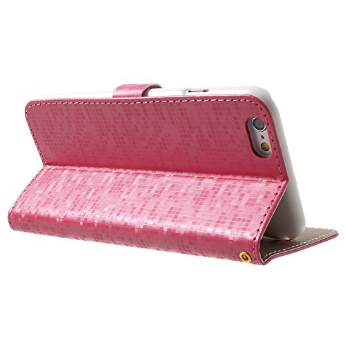Étui de protection élégant étui Apple iPhone 6/6S Designer Case Pink decui Rose Étui de protection en cuir PU