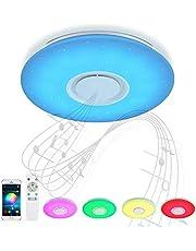 Luz De Techo Del LED Con La Cáscara De Bluetooth, Wifi Aplicación Para Luz De Techo Con Alexa Y Google Eco, 72W, Wireless,36w 50cm