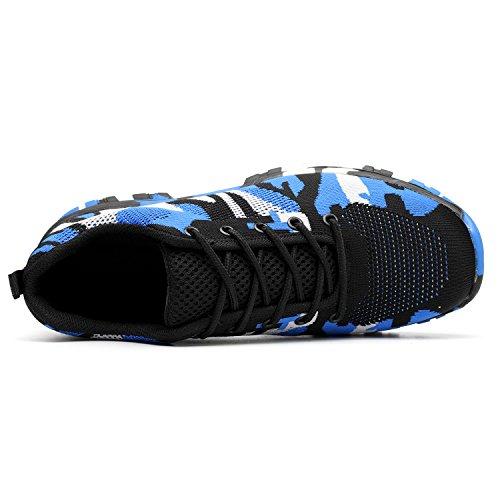 in 1 da Punta Donna Scarpe COOU Sicurezza Sportive Uomo Comodissime Blue di Scarpe Antinfortunistiche Acciaio Lavoro Style con s3 Scarpe Unisex 0nHqP1w