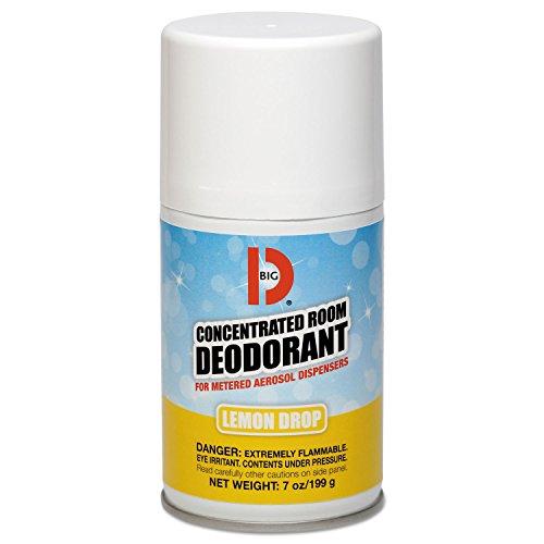 Metered Concentrated Room Deodorant, Lemon Scent, 7 Oz Aerosol, 12/carton - Concentrated Deodorant
