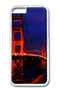 iPhone 6 Case, Custom Design Covers for iPhone 6 PC Transparent Case - Bridge In Night