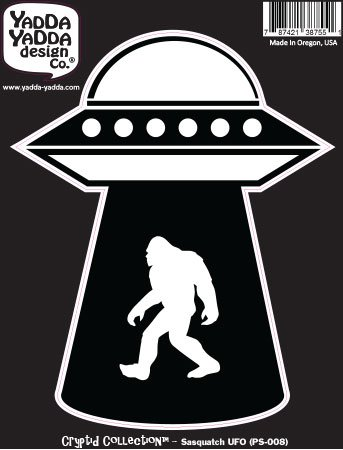 Sasquatch UFO Abduction - Bigfoot - Alien - Peel and Stick D