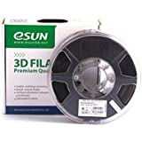 eSUN 1.75mm Black PLA 3D Printer filament 1kg Spool (2.2lbs), Black