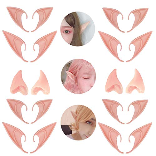 6 Pair Fairy Pixie Elf Ears for Halloween Christmas Cosplay by Kbraveo -