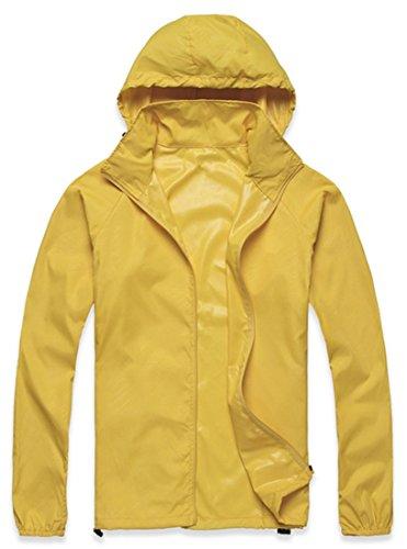 UPC 702029181080, Lanbaosi Women's Lightweight Jacket UV Protect+Quick Dry Windproof Skin Coat Golden yellow Size L