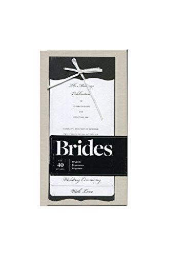 Black and White Wedding Ceremony Program Kit, 40 Count (Black And White Wedding Programs compare prices)