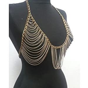 Meiysh retro fashion golden bra body necklace for Necklace belly chain jewelry