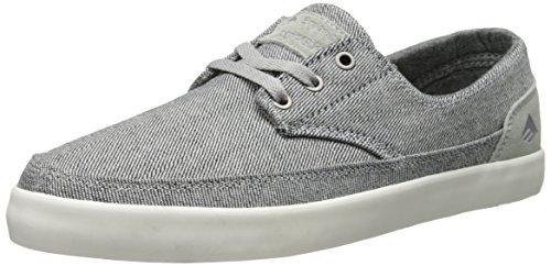 Emerica Men's Troubadour Low Skateboard Shoe, Grey/White, 10 M US