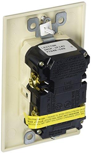 Leviton AFTR2-HGT 20-Amp 125-volt Tamper Resistant Hospital Grade AFCI Duplex Receptacle, Light Almond by Leviton (Image #1)