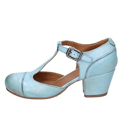 Moma Scarpe Da Donna Con Cinturini Blu Cielo