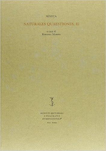 Book Naturales quaestiones, II (Biblioteca di studi antichi)
