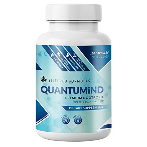 Premium Brain Supplement: QUANTUMiND by Filtered Formulas | Scientifically Formulated Nootropic for Focus, Energy, Memory, Clarity | with Ashwaghanda, Alpha Lipoic Acid, Shilajit (180)
