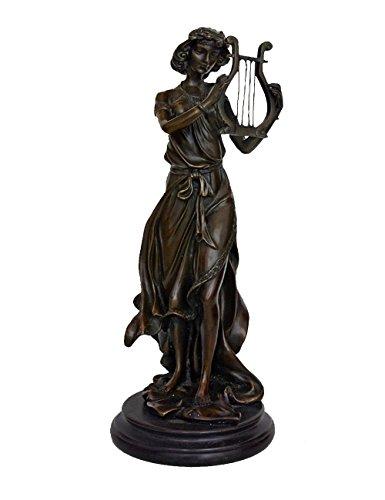 (Toperkin Harp Player Large Bronze Statues Metal Garden Statue Sculpture Home Decor TPY-960)