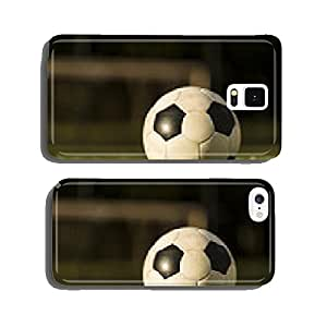 Soccer ball on a grass field. cell phone cover case Samsung S5