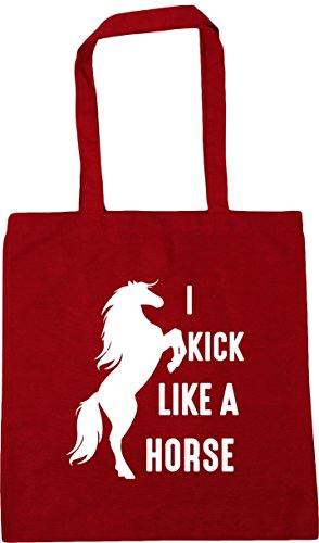 Classic 10 Shopping A Kick Beach Gym Like Horse HippoWarehouse Red 42cm Bag I litres Tote x38cm xwH7Yq6n