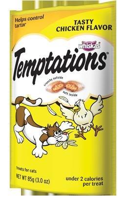 Whiskas Temptations Cat Treats Tasty Chicken Flavor 3 Bags Tartar Control Treats, My Pet Supplies