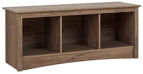 Prepac DSC-4820 Entryway, 3-Cubbie Bench, Drifted Gray